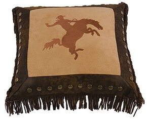 HiEnd Accents Bucking Bronco Pillow, Multi, hi-res