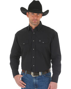 Wrangler George Straight Men's Troubadour Long Sleeve Shirt , , hi-res
