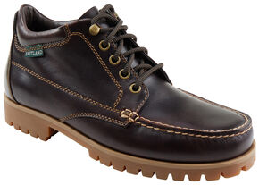 Eastland Men's Burgundy Brooklyn Ankle Boots , Burgundy, hi-res