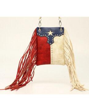 Blazin Roxx Women's Texas Flag Fringe Crossbody Bag, Multi, hi-res