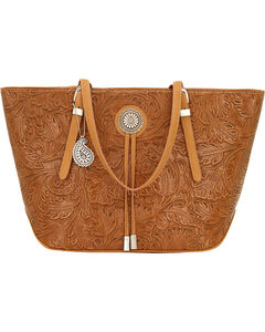 Bandana by American West Dallas Tan Zip Top Tote , , hi-res