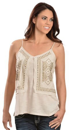 Red Ranch Women's Brass Stud Cami, , hi-res