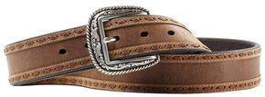 Ariat Scout Leather Laced Belt, Distressed, hi-res