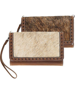 Angle Ranch Women's Hair-On Large Smartphone Holder Wristlet, , hi-res
