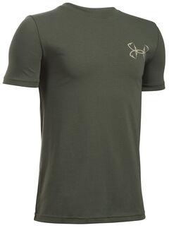 Under Armour Boy's Green Big Mouth Strike T-Shirt , , hi-res