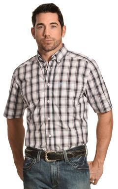 Ariat Men's Performance Fitted Elizar Plaid Short Sleeve Shirt, , hi-res