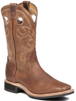 Boulet Cowboy Boots - Square Toe, Brown, hi-res