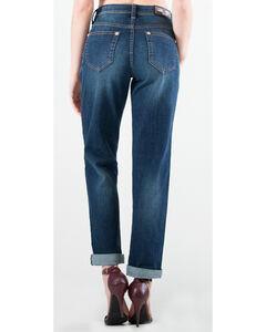 Grace in LA Women's Dark Blue Boyfriend Jeans - Straight Leg , , hi-res