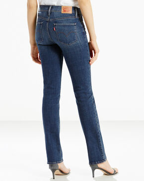 Levis Women's Lavender Hill Slimming Straight Jeans - Straight Leg , Blue, hi-res