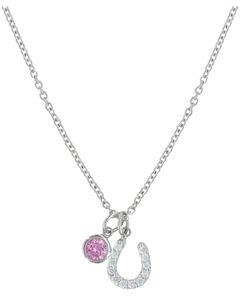 Montana Silversmiths Pink Luck By Star Light Necklace, , hi-res