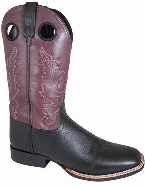 Smoky Mountain Men's Marshall Cowboy Boots - Square Toe, Black, hi-res