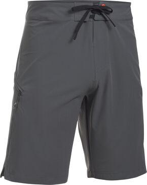 Under Armour Men's Grey Solid Board Shorts, Grey, hi-res
