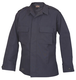 Tru-Spec Men's Navy Long Sleeve Tactical Shirt , Navy, hi-res