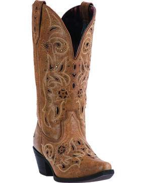 Laredo Tan Vanessa Cowgirl Boots - Snip Toe, Tan, hi-res