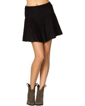 Miss Me Suede Skater Skirt, Black, hi-res
