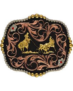 Montana Silversmiths Tri-Color Bullrider Traditional Attitude Buckle, , hi-res