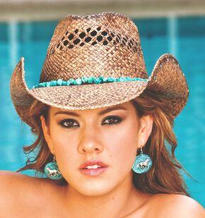 Bullhide Year of Summer Raffia Straw Cowgirl Hat, Natural, hi-res