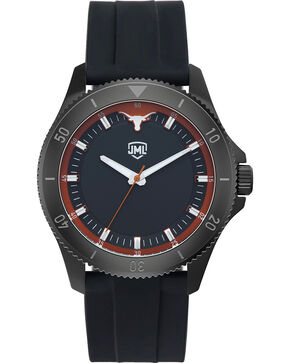 Jack Mason Men's Texas Blackout Silicone Watch , Black, hi-res