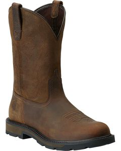 Ariat Groundbreaker Pull-On Work Boots - Round Toe, , hi-res
