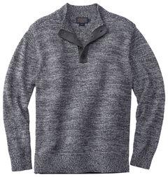 Pendleton Men's Black Marl Button-Henley Sweater , Black, hi-res