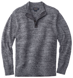 Pendleton Men's Black Marl Button-Henley Sweater , Black, hi-res