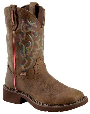 Justin Gypsy Waterproof Cowgirl Boots - Square Toe, Barnwood, hi-res