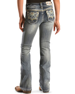 Grace in L.A. Girls' Medallion Bootcut Jeans - 7-16, , hi-res
