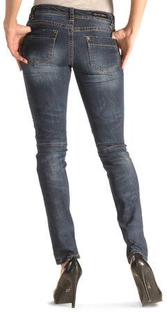Grace in LA Women's Moto Skinny Jeans , , hi-res