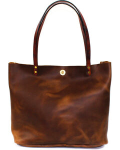 SouthLife Supply Women's Aged Bourbon Square Tote, Brown, hi-res