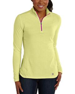 Carhartt Women's Force Performance Quarter-Zip Shirt, , hi-res