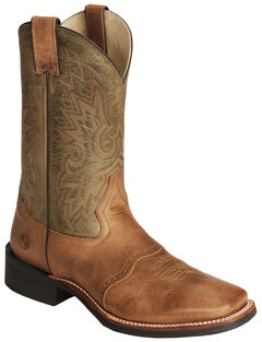 Double H Cognac Roper Cowboy Boots - Wide Square Toe, , hi-res