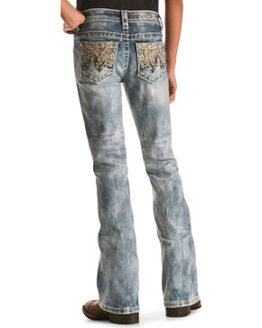 Miss Me Girls' Butterfly Bootcut Jeans, Indigo, hi-res