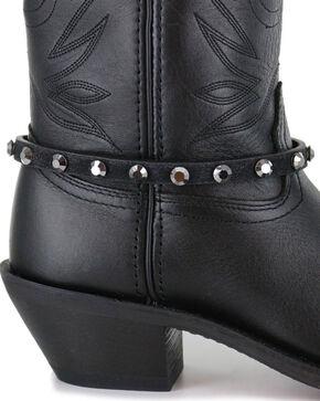 Shyanne Women's Crystal Boot Bracelet, Black, hi-res