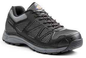 Dickies Men's Fury Low Work Shoes - Steel Toe, Black, hi-res