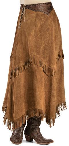 Kobler Leather Women's Nancy Leather Fringe Skirt, , hi-res