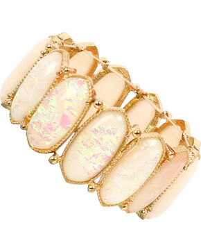 Ethel & Myrtle Best of Show White Opal Crystal Stretch Bracelet, Ivory, hi-res