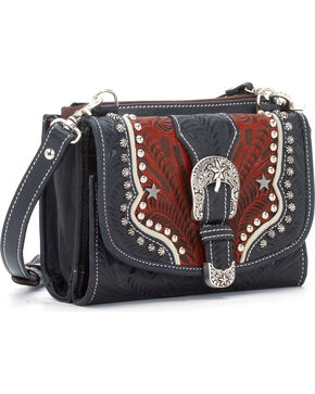 American West Women's Texas Two-Step Mini Crossbody Bag, Red, hi-res