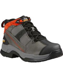 Ariat Women's Grey Contender Work Boots - Steel Toe , , hi-res