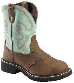 Justin Waterproof Gypsy Teal Cowgirl Boots - Round Toe, , hi-res