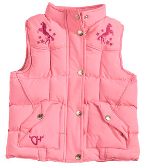Cowgirl Hardware Toddler Girls' Pink Heart 'n Horse Vest, Pink, hi-res
