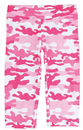 Wrangler Infant Girls' Pink Camo Leggings, Pink, hi-res