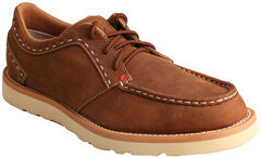 Twisted X Men's Oiled Saddle Casual Lace-Up Shoes - Moc Toe , , hi-res