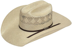 Twister Men's 8X Sisal Straw Cowboy Hat, Natural, hi-res