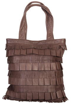 Scully Layered Fringe Leather Tote, , hi-res