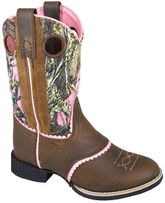 Smoky Mountain Girls' Ruby Belle Camo Western Boots - Round Toe, , hi-res