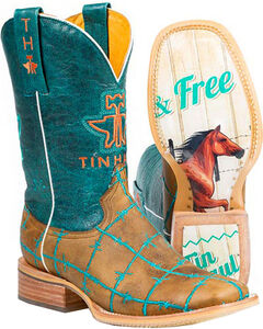 Tin Haul Women's Wild and Free Cowgirl Boots - Square Toe, , hi-res