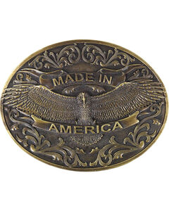 Cody James® Men's Made In America Belt Buckle, Bronze, hi-res