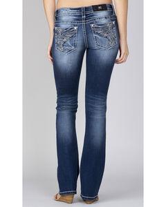Miss Me Women's Indigo Wing Pocket Jeans - Boot Cut, , hi-res