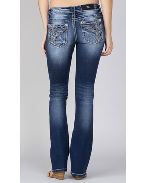 Miss Me Women's Indigo Wing Pocket Jeans - Boot Cut, Indigo, hi-res