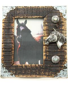 "Western Moments Rustic Wooden Horse Head Photo Frame - 4"" x 6"", , hi-res"